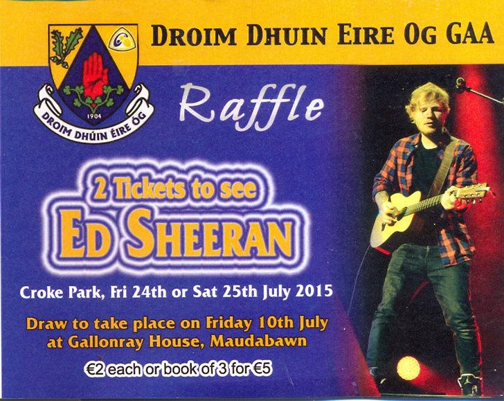 Win Ed Sheeran tickets
